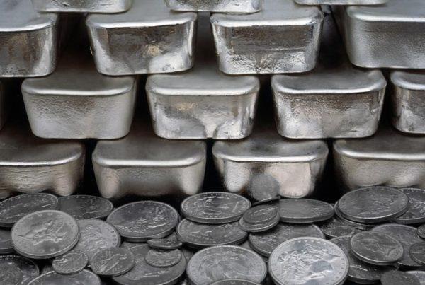 růst ceny stříbra